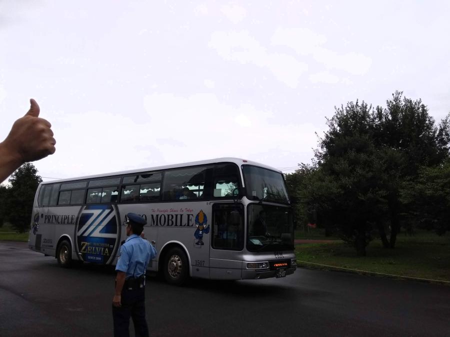 選手大型バス