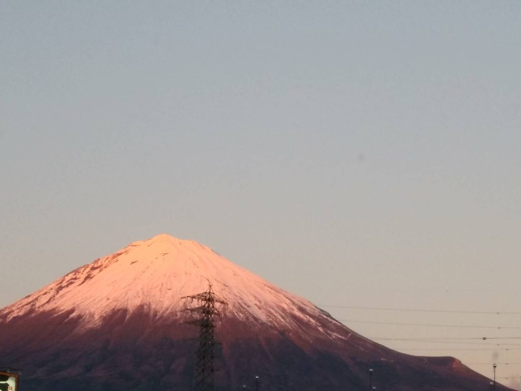 赤富士が撮れる