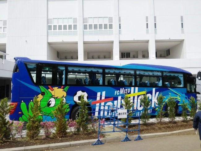 水戸選手バス