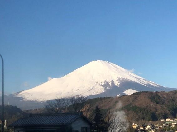 静岡県から見える富士山