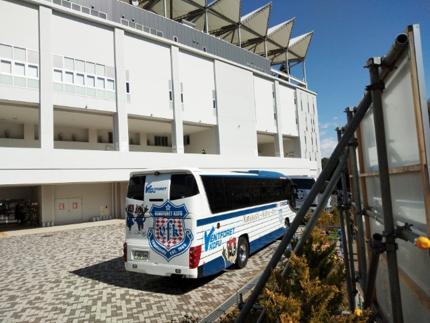 ヴァンフォーレ選手バス