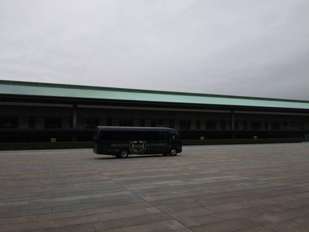皇居宮殿 車 写真