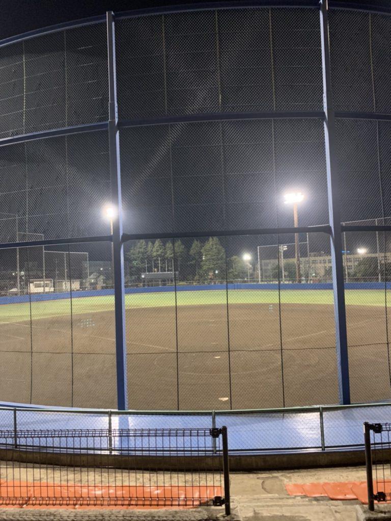 福生球場 夜桜